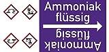LEMAX® Rohrleitungsband Ammoniak flüssig,DIN 2403,ab Ø 15mm,violett/weiß,33m/Rolle