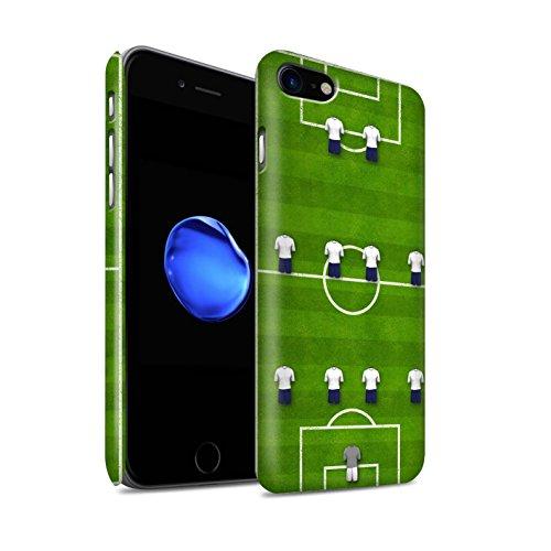 STUFF4 Matte Snap-On Hülle / Case für Apple iPhone 8 / 4-4-2/Weiß Muster / Fußball Bildung Kollektion 4-4-2/Weiß