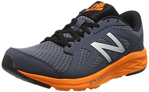 New Balance 490 - Scarpe Running Uomo, Multicolore (Grey/Orange 058), 43 EU