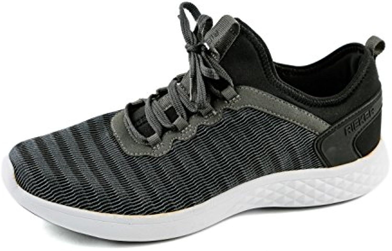 Rieker Samples RK1-026 - Zapatillas de Lona para Hombre Gris Gris B9753