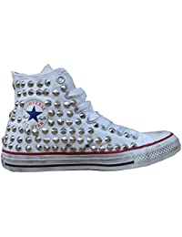Converse Chuck Taylor All Star Alte Borchie Metalliche Stampa Animale Nero