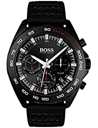3cb2ee5ee32 Hugo Boss Mens Chronograph Quartz Watch with Leather Strap 1513662