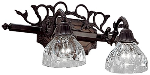 Classic Lighting 57366 AGB Majestic, Cast Brass and Lead Crystal, Vanity Lighting, Aged Bronze by Classic Lighting -
