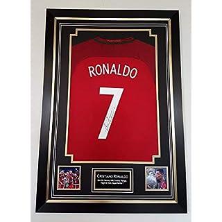 www.signedmemorabiliashop.co.uk Cristiano Ronaldo Signed and Framed PORTUGAL shirt AFTAL DEALER