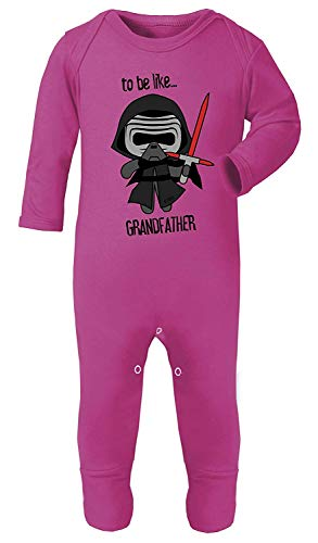 Darth Vader to Be Ähnlichen Großvater Star Wars Aufdruck Kostüm Footies 100% Cotton - Cerise Rosa, 3-6 (Cerise Kostüm)