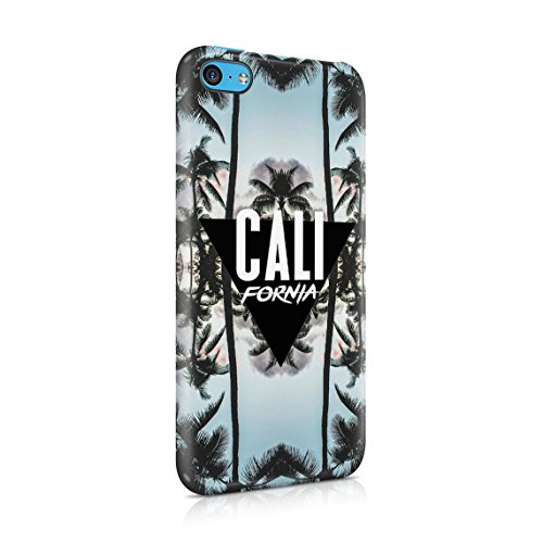 Under California Sun Summer Beach Palms Good Vibes Tumblr Dünne Rückschale aus Hartplastik für iPhone 7 Plus & iPhone 8 Plus Handy Hülle Schutzhülle Slim Fit Case cover California