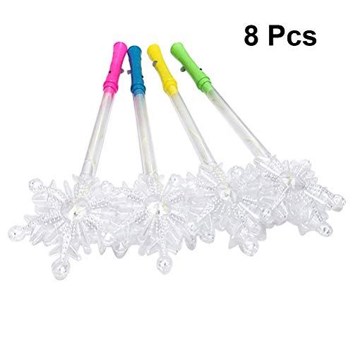Toyvian Leuchtstab Led Zauberstäbe Schneeflocke Leuchtstäbe für Konzert Party (mischfarbe) 8 Stücke