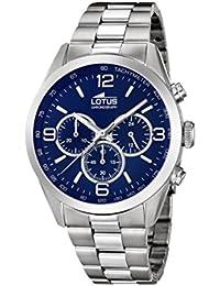 Lotus Watches Reloj Cronógrafo para Hombre de Cuarzo con Correa en Acero  Inoxidable 18152 4 fea0f1809794
