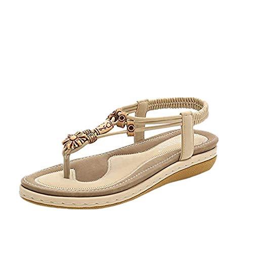 Darringls Scarpe da Donna Eleganti Estate Sandali Donna Bassi Comfy Piattaforma, 2019 Moda Sandali Morbida Traspirante Sandali Infradito Perdita 35-43