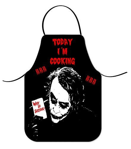 Delantal Joker Why So Serious Today 'IM Cooking