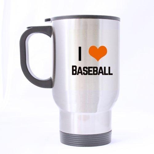 Ich liebe Baseball-Becher für Baseball-Fans lustige Kaffeetassen des Reise-Becher-14oz oder Tee-Schalen-kühle Geburtstags- / Weihnachtsgeschenke für Männer, Frauen, ihn, Jungen und Mädchen