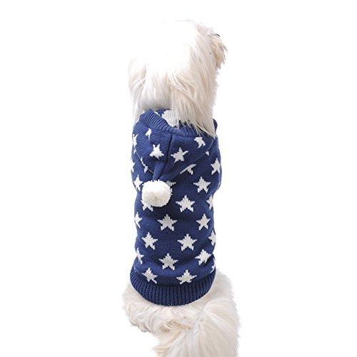 Weihnachten Winter Hunde Sweater Pullover Hundbekleidung (XXL, Blue) - 7
