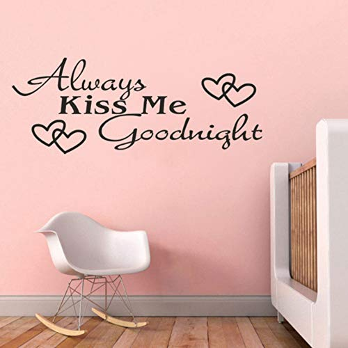 (YzybzImmer Küssen Sie Mich Liebe Englische Sprüche Aufkleber Poesie Removableliving Zimmer Sofa Home Dekorative Wandaufkleber Wandbild)