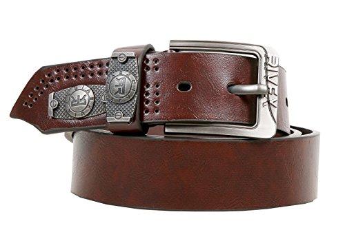 Rivex Artificial Leather Brown Casual Men's Belt