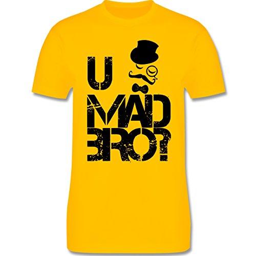 Hipster - U MAD BRO? - Herren Premium T-Shirt Gelb