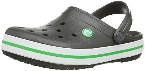 crocs Unisex-Erwachsene Crocband Clogs Grau (Graphite/Grass Green)