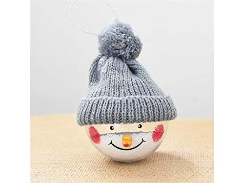 Suprerhoung decorazione natalizia classica christmas snowman ornament doll christmas eve ornament (grigio)