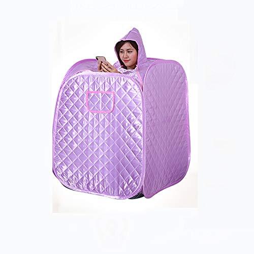 QXXNB Dampf-Sauna-Zelt, Box-SPA Detox Gewicht Verlust- Easing Müdigkeit Und Die Reduzierung Von Stress-1000W-Fernbedienung, Dampftopf, Fußablage, Matte Anti-Leaks 1-9 Datei -