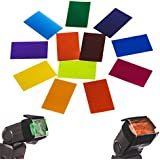 TARION 12Pcs Of Universal Color Filters Cards Kit With Velcro Band For Shoe-mount Flashes Speedlight TARION Canon Nikon YONGNUO Pixel Godox