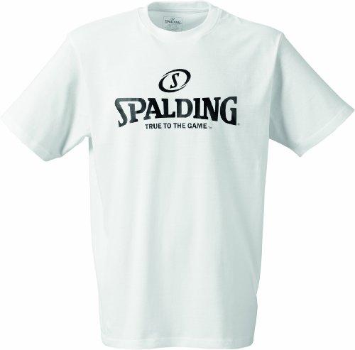 Spalding Herren Herren Shirt Logo T-Shirt, weiß, L, 300201002 (Für Basketball-t-shirts Männer)