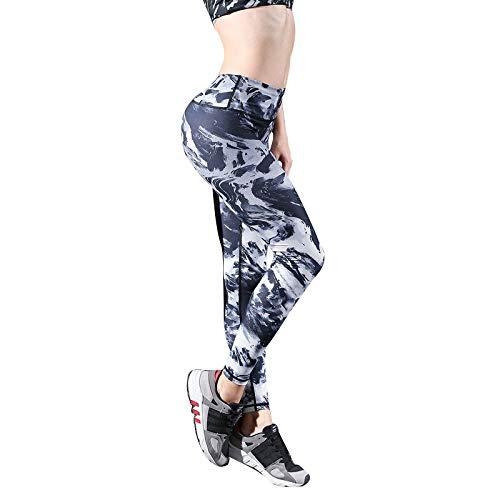 Feidaeu Pantalones Las Mujeres Cintura Alta Impresa