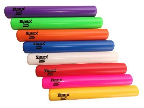 Set di 8 testimoni da staffetta Senior Vinex in plastica, certificati IAAF, 8 colori / Testimone per staffetta