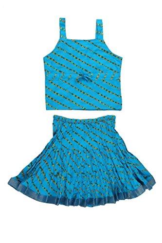 Jaipur Kala Kendra Baby Girls Casual Skirt Top Party Dress Lehanga Choli Summer Kids Gift Skirts Tops Blouse Sky Blue