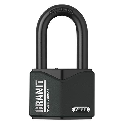 ABUS Vorhangschloss Granit 37/55HB50 Premium-Schloss für höchste Beanspruchungen - extra hoher Bügel - Sicherheitslevel 10 - inkl. 2 Schlüssel - schwarz - 35061