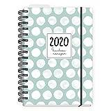 Familienkalender 2020 A5, Wochenplaner für Familien mit 5 Spalten, Kalender Ringbuch mit Hardcover, Gummiband und Lesezeichen, Kalenderbuch 2020 und vielen Extras
