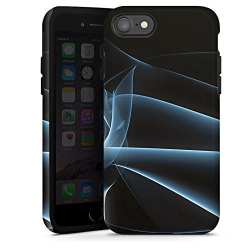 Apple iPhone X Silikon Hülle Case Schutzhülle Rauch Nebel Muster Tough Case glänzend