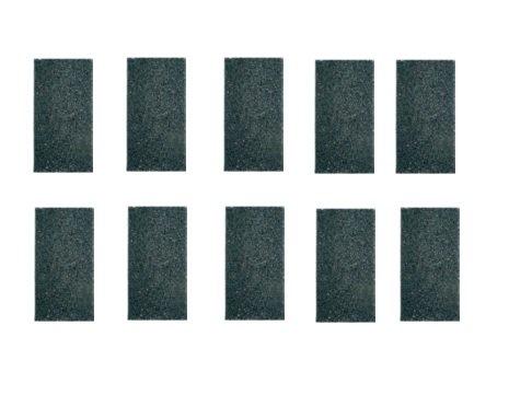 10 Stk. Antirutschmatte 8mm Palettengröße 200x100mm, Matte, Anti-Rutsch-Matte aus Gummigranulat