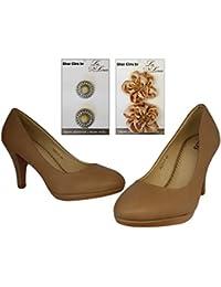 Femme Pumps + Set de chaussures 2paires Clips gratuit