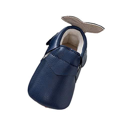 (Beikoard Baby Kleinkind Winter Schuhe Mode Fischschwanz Kleinkind Schuhe Winter Leder oberen Schuhe Weihnachtstagesschuhe Weiche Bodenschuhe)