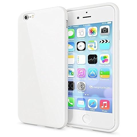 iPhone 6 6S Coque Silicone de NICA, Ultra-Fine Housse Protection Cover Slim Premium Etui, Mince Telephone Portable Gel Case Bumper Souple pour Apple iPhone 6S 6 Smart-Phone - Blanc