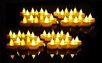 EverBrite LED Luci di Candele 48 Pezzi Tealight Senza Fiamme con Batterie per Festa