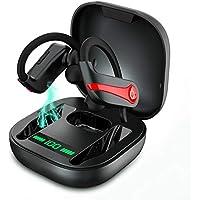 Auriculares Bluetooth Deportivos Auriculares Inalambricos Running IP7 Impermeable Cascos Bluetooth V5.1 In-Ear, Correr con Micrófono Caja de Carga, Cancelación de Ruido Gimnasio,Viajes,Deporte