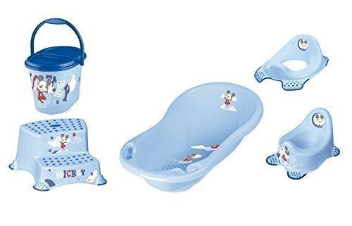 Disney Micky Maus 5er Z Set Badewanne + Töpfchen + WC Aufsatz + Hocker zweistufig + Windeleimer Neu