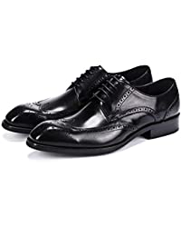 bb2f6c47 LOVDRAM Zapatos De Cuero para Hombre Llegada De Cuero Genuino Italiano  Hombres Brogue Zapatos Hombres Vestido Formal Oxfords…