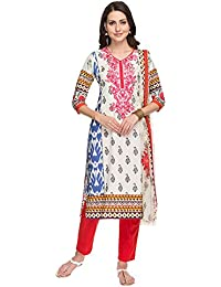 Kashish By Shoppers Stop Womens Printed Pants Kurta Dupatta Set