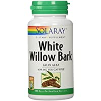 Solaray White Willow Bark Capsules, 400 mg, 100 Count