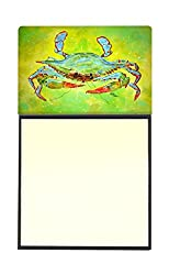Carolines Treasures 8357SN Bright Green Blue Crab Refillable Sticky Note Holder or Postit Note Dispenser, 3.25 by 5.5, Multicolor
