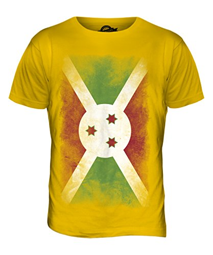 CandyMix Burundi Verblichen Flagge Herren T Shirt Dunkelgelb