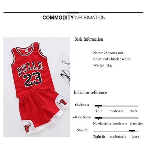 Kinder Sport NBA-Team Trikot Anzug - Bulls Michael Jordan # 23 / # 23 James Lakers/Krieger Curry # Basketball-Training Basketball Kleidung Bestickte Shirts Von Jungen Und Mädchen