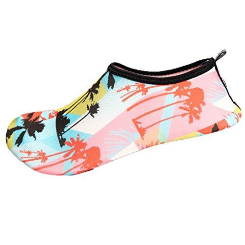 Badeschuhe Damen Herren, Strandschuhe Unisex Aquaschuhe Männer Frauen Wasser Aqua Socken Yoga Strand Tanz Schwimmen Beleg auf Brandungs Tauchens Schuhen (Schwarz, EU 35-36) (Leichtes Socke Radfahren)