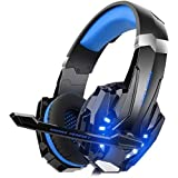 Mahmayi G9000 - Headband Headphones for One S / One / PS4 / tablet / laptop / mobile phone (0.138 in stereo jack, LED light)