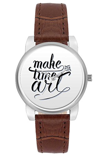 Women's Watch, BigOwl Make Time For Art Designer Analog Wrist Watch Women - Gifts for her dials