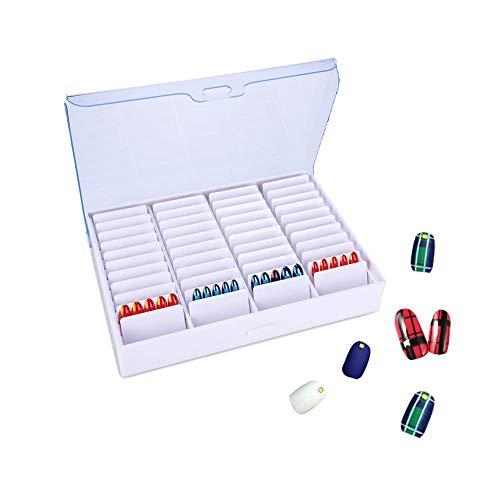 High-End und Distinguished False Nail Art Box, Maniküre Werkzeuge Aufbewahrungsbox Leere Clear Nail Art Dekoration Strass Edelstein Bead Container -