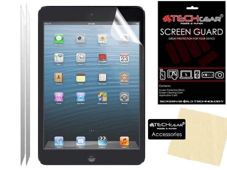 TECHGEAR [2 Stück Matte Displayschutzfolien für iPad Mini 3/2 / 1 - Matte Blendschutz Schutzfolie für Apple iPad Mini 3 / iPad Mini 2 / iPad Mini 1, mit Reinigungstuch + Applikationskarte -