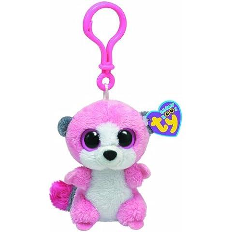 Ty 36504 Beanie Boos - Lemur de peluche Bubblegum con anilla