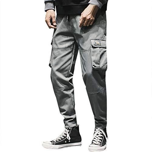 in vendita 4b45e 9871e Pantaloni Elasticizzati da Lavoro Uomo, Modo degli Uomini di Casual  Pantaloni All'Aperto di Lavoro Solido Multi-Tasca Pantaloni